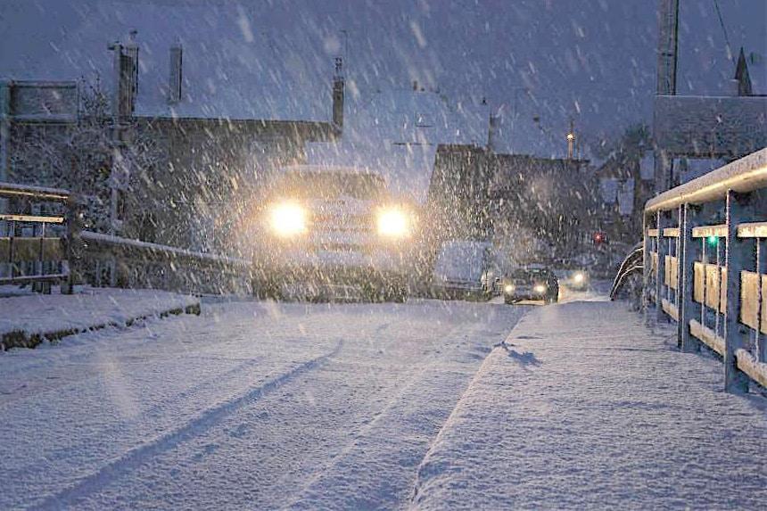 de la neige et du froid à Dijon - © Raphaël Roth