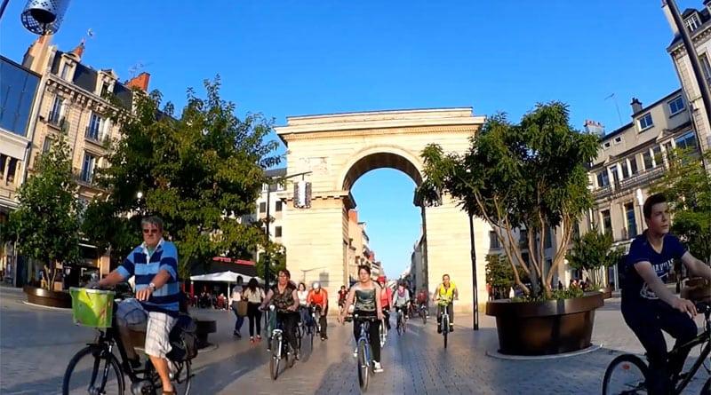 Balade à vélo à Dijon EVAD