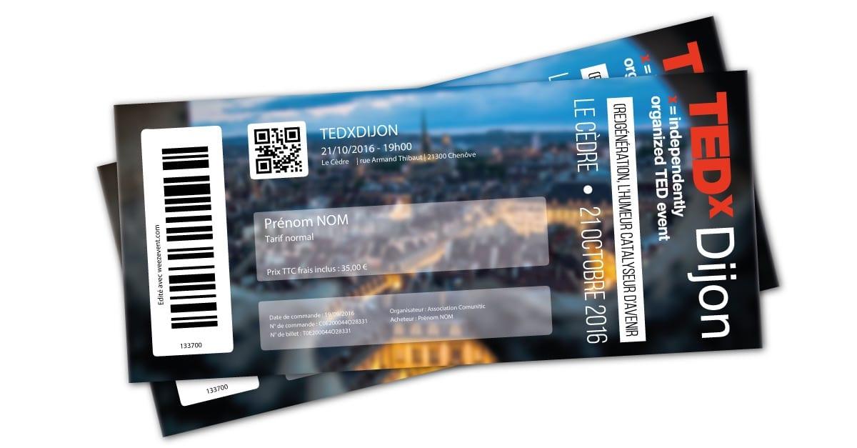 TEDx Dijon billetterie