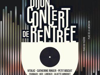 Affiche du concert de rentrée 2017