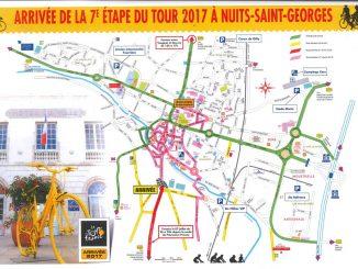 Carte d'accès à Nuits-Saint-Georges