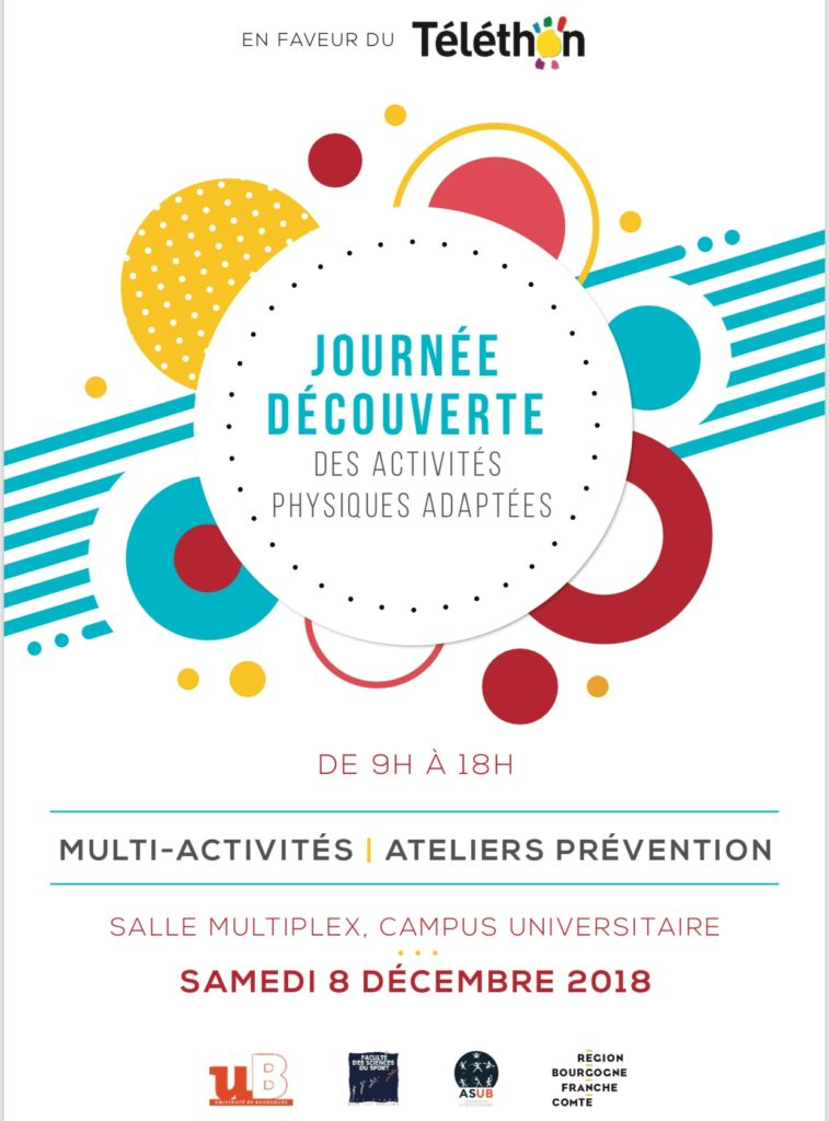 Affiche Journée découverte APA Dijon en faveur du Téléthon