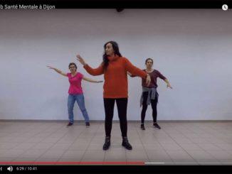 Flashmob santé mentale à Dijon © capture écran Youtube