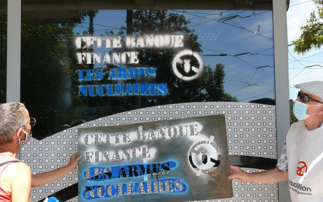 Dijon : action contre les banques qui financent les armes nucléaires
