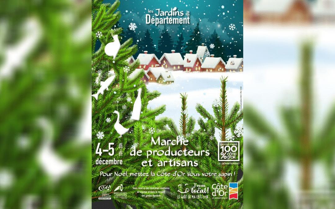 Le Marché de producteurs et artisans 100% Côte-d'Or se tiendra les 4 et 5 décembre dans les Jardins du Département