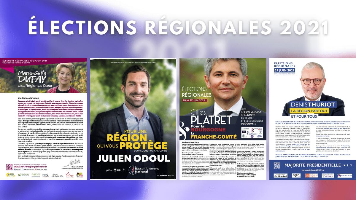 Elections régionales 2021, 2nd tour - Professions de foi