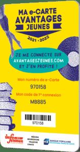 La e-Carte Avantages Jeunes 2021-2022