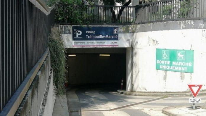 Le parking Trémouille-Marché reste ouvert au public